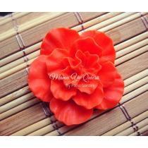 Molde Caucho De Silicona Flexible Rosa Roseton Precioso!!!