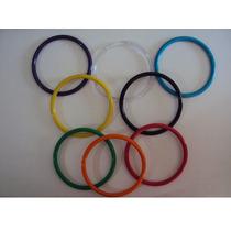 Argollas Plasticas, Variedad De Tamaños Y Colores