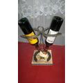 Posa Botella De Vino Artesanal C/herradura