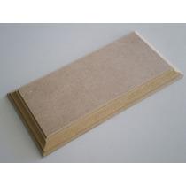 Bases De Mdf Con Moldura Peana Para Maquetas 15 X 25 Cm