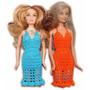 A Pedido Conjunto De Ropa Para Barbie Tejido Crochet Vestido