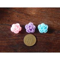 Molde Caucho De Silicona Flexible Rosas Rococo X3