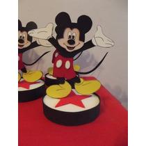 Centros De Mesa Mickey Mouse En Goma Eva.
