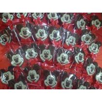 10 Paletas Chupetin Chocolate Mickey