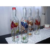 Centro De Mesa Botellas Florero Decoracion Vitro