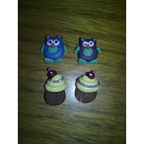 Souvenirs En Porcelana: Buhos, Cupcakes, Leon, Pez, Pajarito