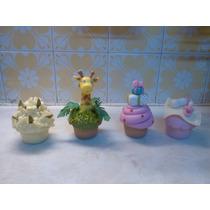 Adorno, Souvenirs, Cajita De Cupcake En Porcelana Fria
