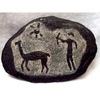 Arte Rupestre Piedra Grabada A Fuego Brovill-deco