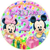 Kit Imprimible Minnie Mickey Babys Golosinas Etiquetas