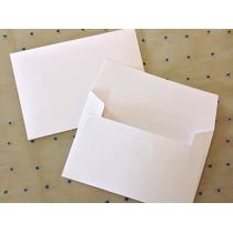 Sobres Invitaciones Para Boda Opalina Blanca 19x12