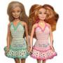 A Pedido Conjunto De Ropa Barbie Tejido Crochet Vestido