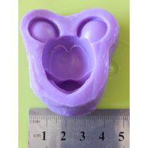 Molde De Caucho De Silicona Cara Mickey / Minnie