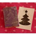 Sellos Artesanales Navidad Árbol Scrapbooking