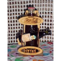 Souvenir Porta Fernet Y Botella Cola Madera Mdf (fibrofácil)