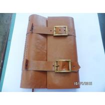 Cuaderno Artesanal Bitacora De Viaje A5 23x16 Cuero Genuino