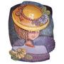Cuadro Mujer Con Sombrero De Cerámica Esmaltada - Artesanal