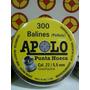Balines Punta Hueca X300 Cal 22 / 5.5mm Grafitados Apolo