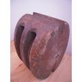 Antigua Pasteca/roldana/polea De Barco,28cm X 21,5cm