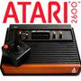 Atari 2600 Madera Y Negras Con Salida De Audio Video !