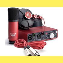 Focusrite Scarlett Studio Set P/grabación Usb Kit Placa 2i2