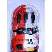 Cable Usb Interface Midi Adaptador Pc Mac Blister Sellado