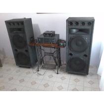 Equipo De Música De Salon Potencia/mezcladora/bafles/acc