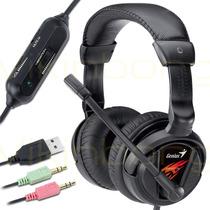 Auricular Con Microfono Genius Hs-g500v Vibración Gammer