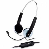 Headset Auricular Con Microfono Genius Hs-210u Usb Msn Skype
