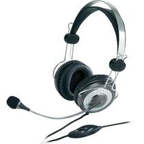 Auricular C/ Mic Genius Hs 04su Vincha Skype Voip Chat Metal