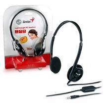 Headset Auricular Con Microfono Genius Hs-200c Skype Vincha