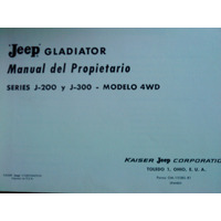 Libro Manual De Usuario 100% Original: Jeep Gladiator 1964
