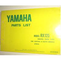 Catalogo De Piezas De Yamaha Rx125