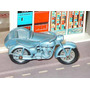 Moto Matchbox 4 C-1 Triumph Motorcycle & Sidecar Año 1960