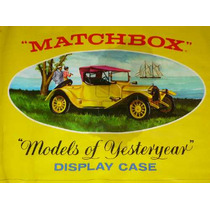 Matchbox Models Of Yesteryear Display Case Año 1969