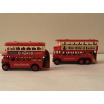 Omnibuses Antiguos De 2 Pisos, Made In England Lledo 9cm.