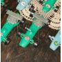 Antiguos 8 Autitos Formula 1 Plástico Duro Calco Agua (4870)