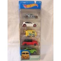 Hot Wheels Pack De 5 Volkswagen
