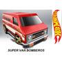 Hot Wheels Super Van Bomberos Fire 2015 # 55 Solo Envios