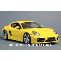 Porsche Cayman S 2013 - Nueva Linea Yellow - Minichamps 1/18