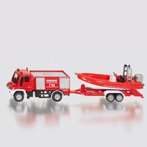 Siku Serie 16- Camion De Bomberos Con Bote E 1:87