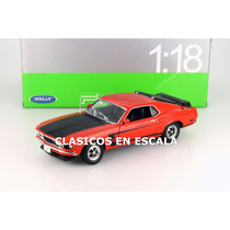 Ford Mustang Boss 302 1969 - Clasico Muscle Car - Welly 1/18