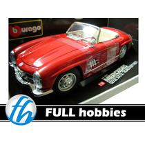 -full- Mercedes Benz 300 Sl Roadster 1957 Burago 1/18