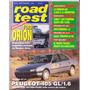 Revista Road Test Nº47 Ford Orion Peugeot 405 Gl 1,6