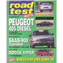 Revista Road Test Nº51 Peugeot 405 Diesel Saab 900 Turbo