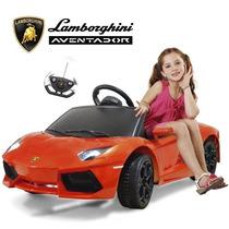 Lamborghini Auto A Bateria Con Control Remoto Mp3 Naranja