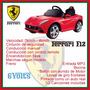 Ferrari F12 Rojo A Bateria 6 Volts Ploppy 381182