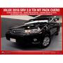 Toyota Hilux Srv 4x2 0km 2016 Negra Ya!!!