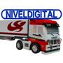 Camion Con Acoplado Radio Control Con Conos Escala 1:98