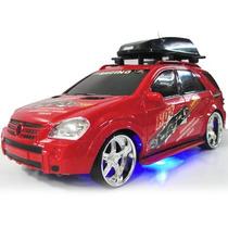 Camioneta Wagon Roja Radio Control Luces Tuneada Portaequipa