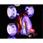 Auto Loco Con Luces Led Multicolor Y Bateria Recargable